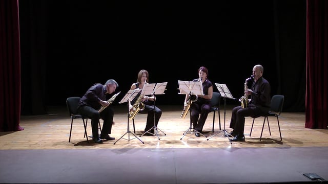 Sax-Ensemble – Cuarteto, Arévalo; QuetglasTonada Interludis.Movie