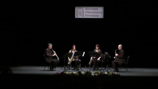 Ferrol, Cuarteto Sax-Ensemble – H. Luaces, Crisálidas del aire