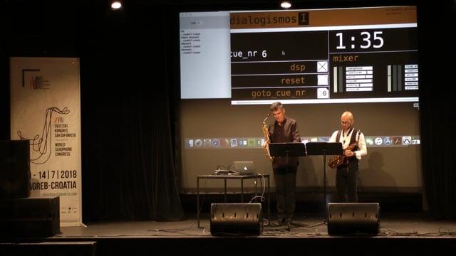 Zagreb congreso mundial saxo;Peixoto-Dialogismos